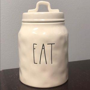 "Rae Dunn ""Eat"" Canister LL Long Letter NWT"